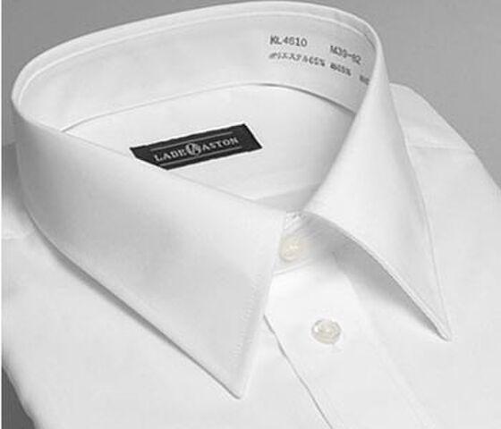 レギュラーカラーのワイシャツ